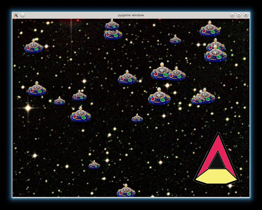 A  picture of the shoot 'em up game.